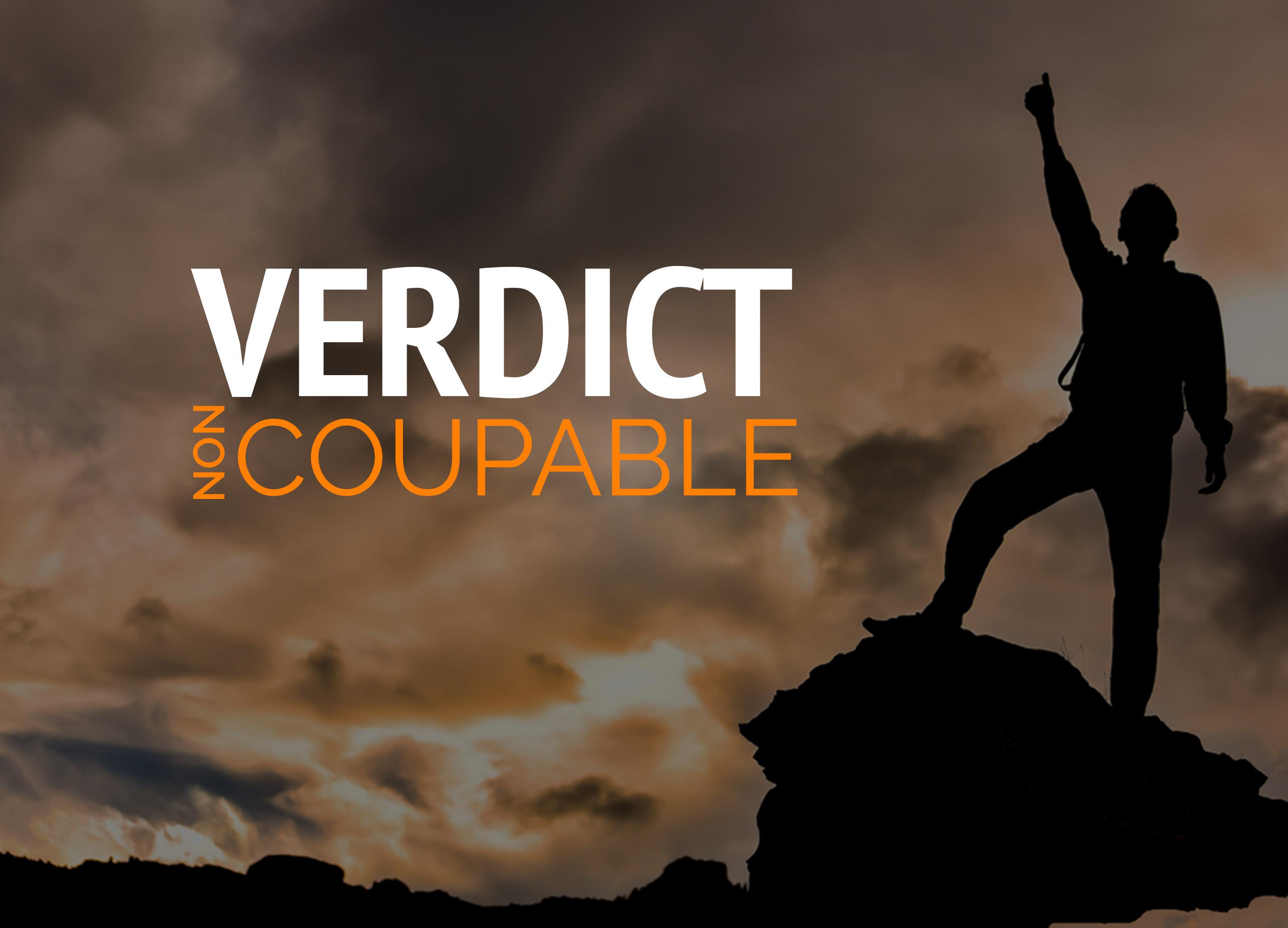 Verdict non coupable