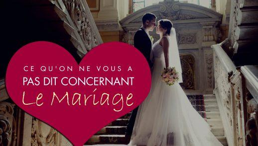 Ce qu'on ne vous a pas dit concernant le mariage !