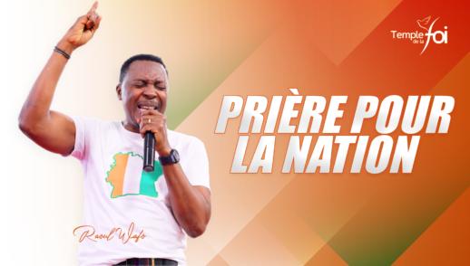 Prière pour la nation